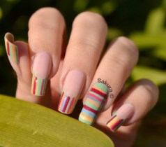 NAIL ART FRENCH LINEAIRE 7