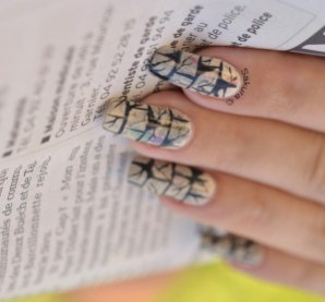 NAIL ART PAPIER JOURNAL LEZARDES 3