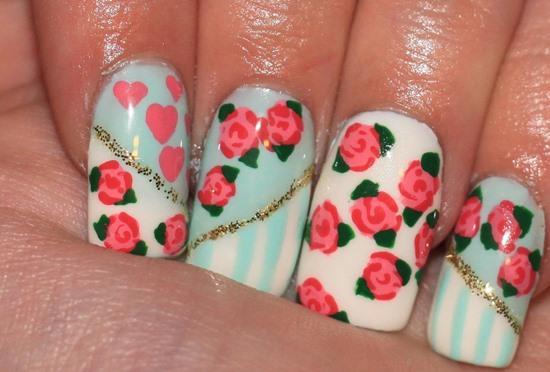 Floral nail designs