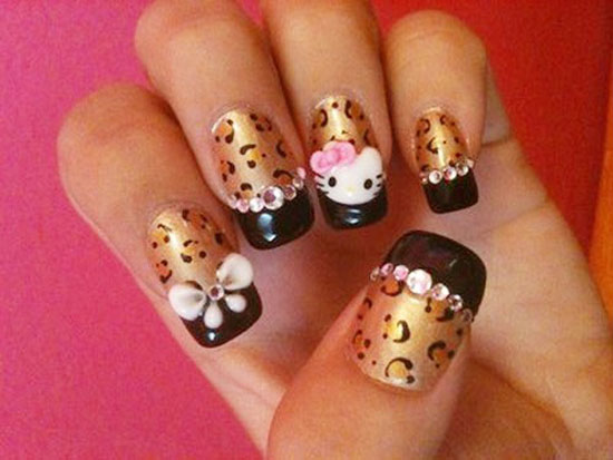 Cute And Attractive O Kitty Nail Art Designs Stickers