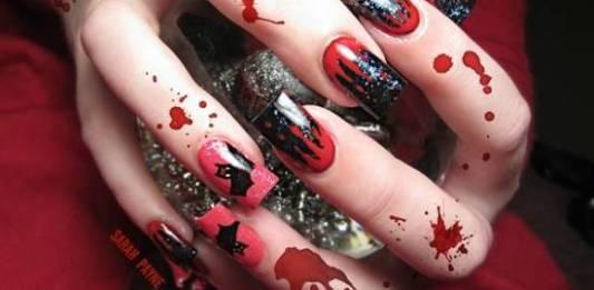 Scary 3D Halloween Nail Art Designs