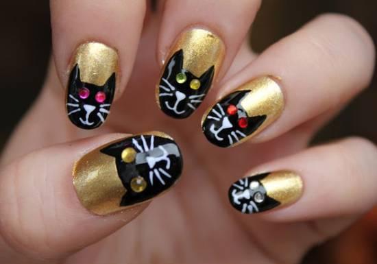 3D Halloween Nail Art Designs