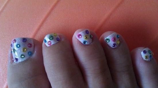 Shiny Easter nails