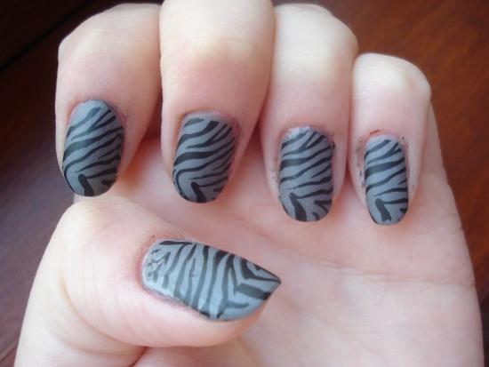 Zebra Nail Art Ideas