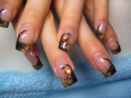 Colourful fall nail design
