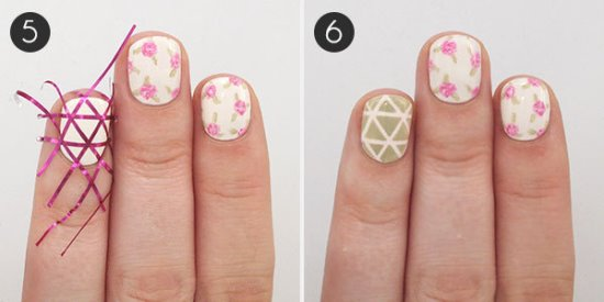 Geometry and Roses Mani