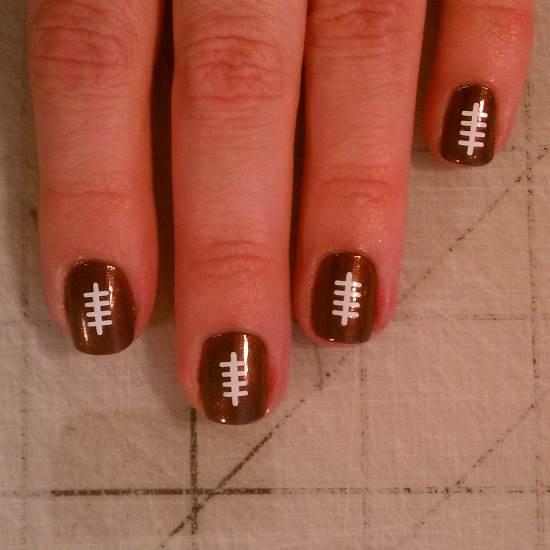 Football Nail Art Designs