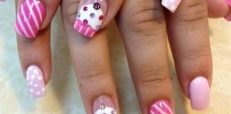 Cupcake nail art tutorial