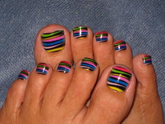 Winter Toe Nail Art
