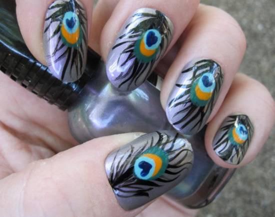 Feather Nail Art Tutorials
