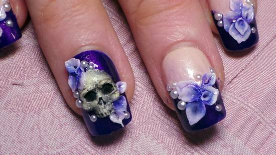 Dark Purple Nail Artpurplenailsart Art Designs