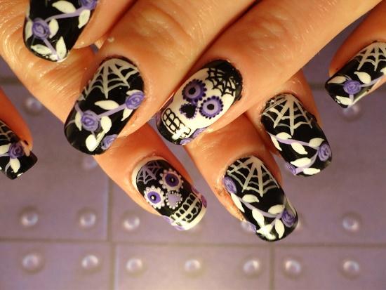 Skull Nail Art Designs