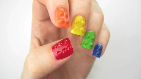 3D summer nails