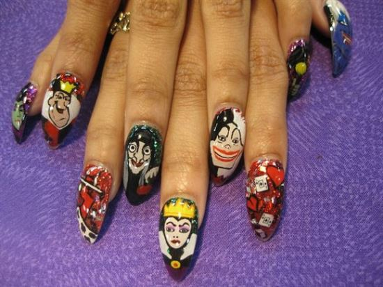 Comic Strip Nail Art