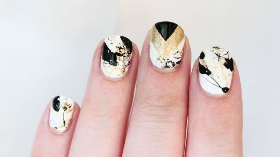 The Messy Chevron Nail Art