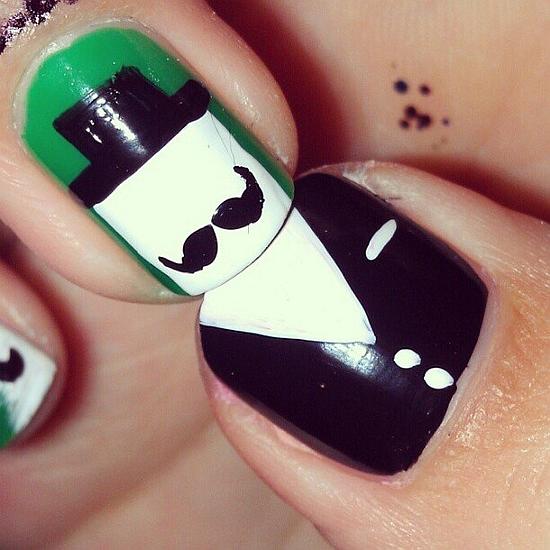 Mustache Nail Art