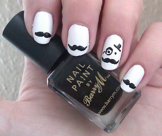 Mustache On Nails