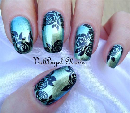 Rose Nail Art Designs