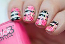 Rose Nail Art