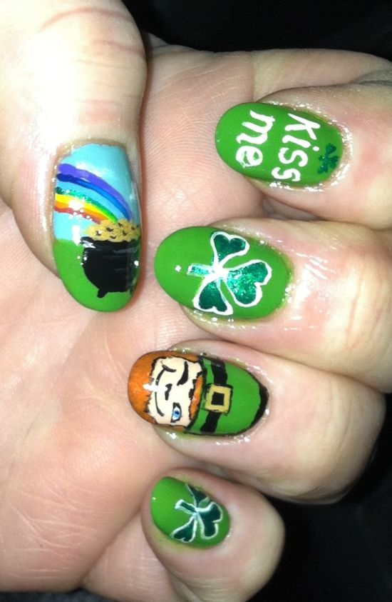 St.Patrick's Day Nail Designs