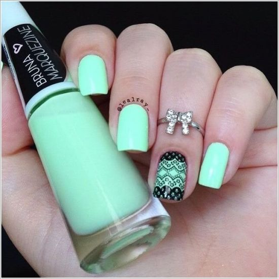 Two Toned Nails