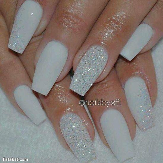 White Glitter Nail Polish