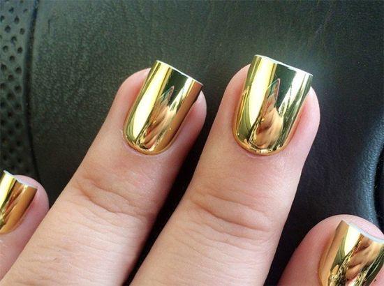 35 Gorgeous Metallic Nail Polish Designs | Nail Design Ideaz
