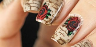 Stained Love Letter Nail Design