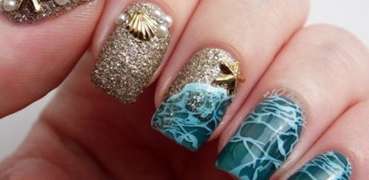 Breathtaking Beach Nail Design