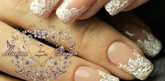 Floral Wedding Nail Tips