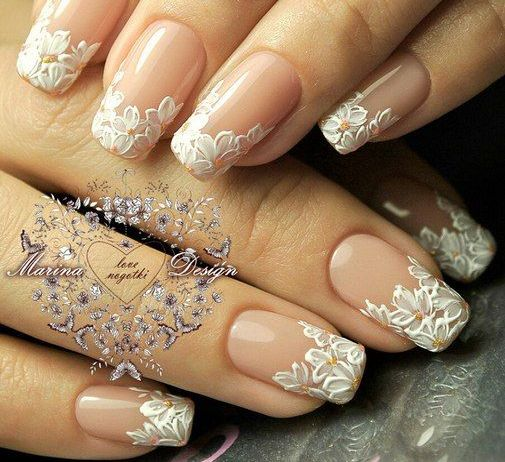 30 elegant wedding nail designs