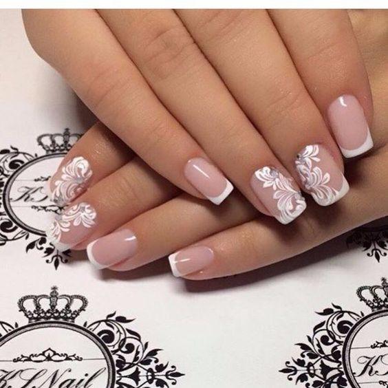 30ornate wedding nail art