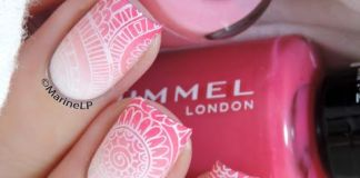 Light Pink Mandala Nail Design