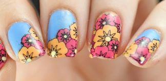 Vibrant Floral Nail Design