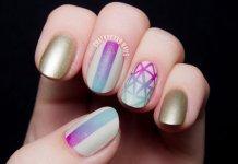 Geometric Gradient Nails