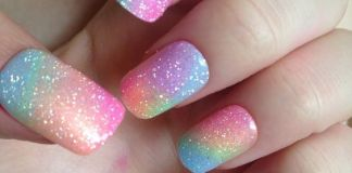 Ombre Pastel Nails