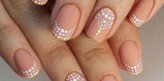Pastel Dots Nude Nail Ideas