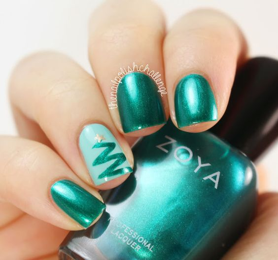 30 Easy Christmas Nails For Beginners Nail Design Ideaz