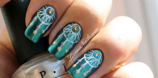 Boho Peacock Teal Nail Designs