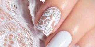 Pretty While Lace Nail Design