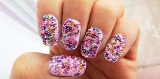 Rainbow Caviar Nail Art