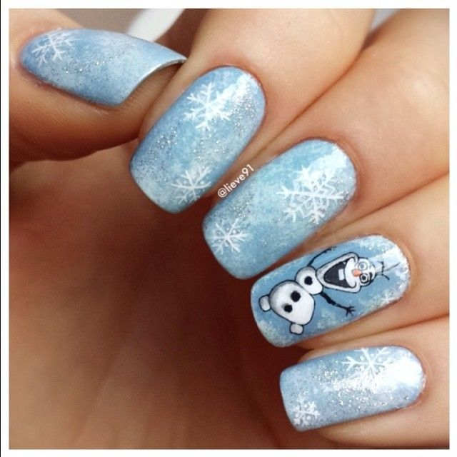 Prev Next Christmas Nail Art Magnificent French Design Idea