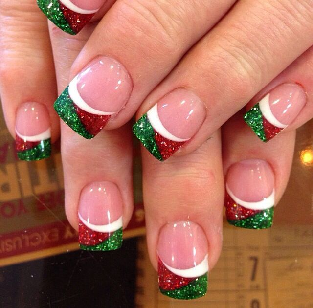 Cute Chic Unique New Year Holiday Christmas Nail