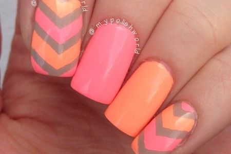 Pink And Orange Nails Full Hd Maps Locations Another World