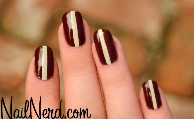 Simple Striped Nail Art For Short Nails