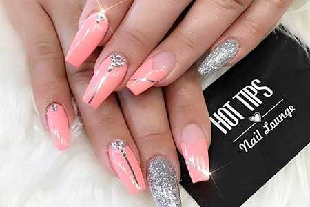 Hot Pink Coffin Nail Designs Full Hd Pictures 4k Ultra Full