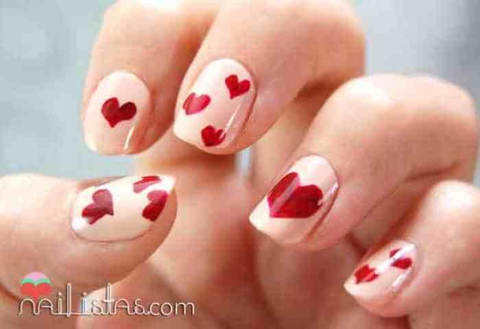 Uñas Decoradas De San Valentín Manicura De Corazones Nailistas