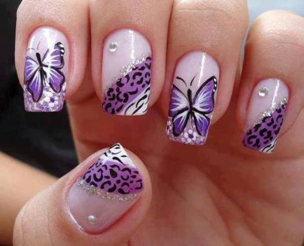 Erfly Sticker Nail Art Design