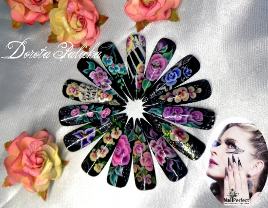 One Stroke Is Most Amaizing Nail Art Technique Atend Course To Learn This Fab Designs