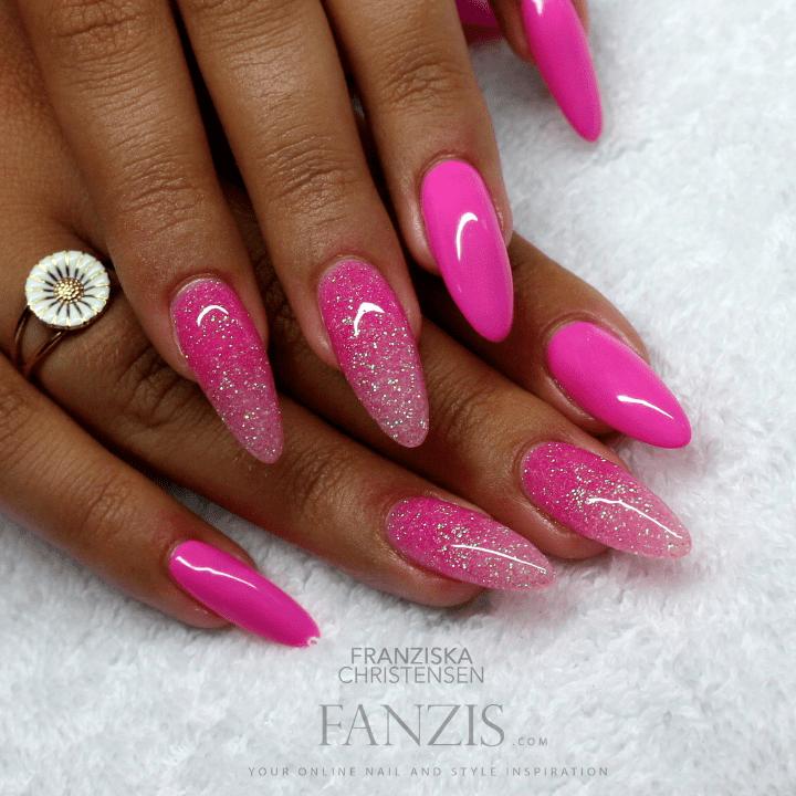 Nail Art Tutorial Pink Glitter Grant